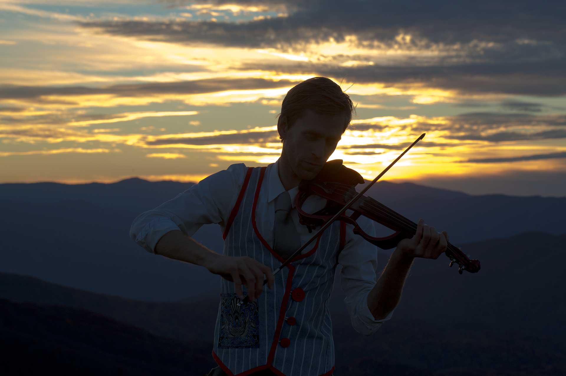 Sunset Violinist